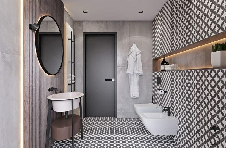 decoración minimalista marroquí-baño