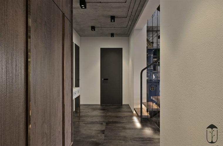 decoración minimalista pasillo
