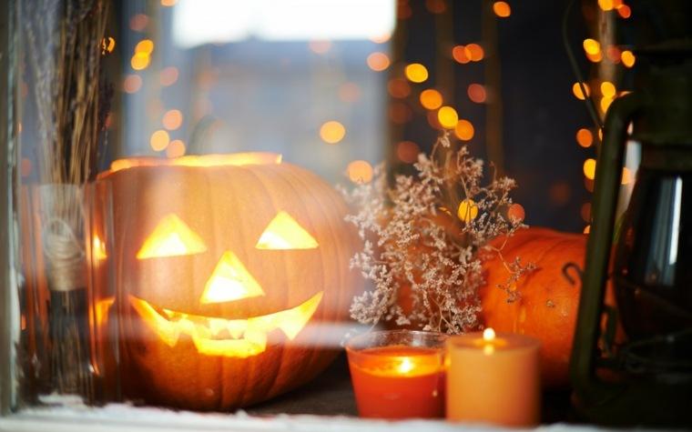 decoracion de halloween-ventana