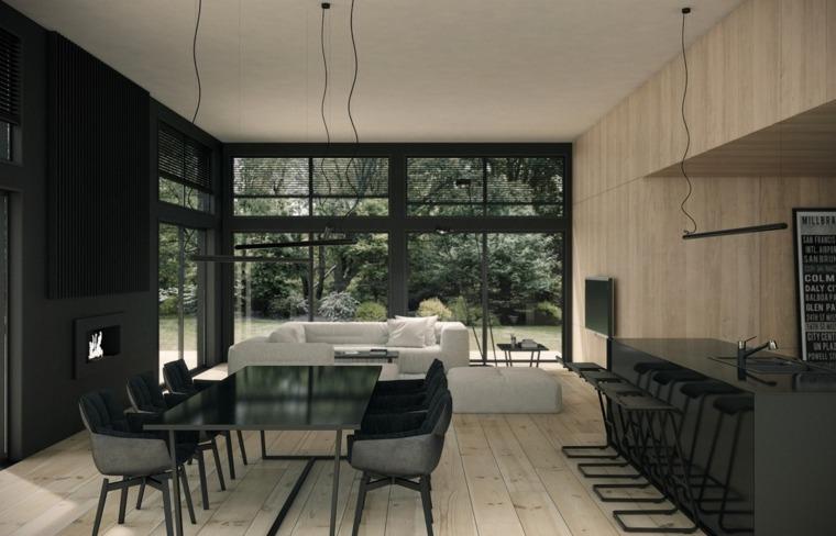 decoracion-de-salas-y-comedores-muebles-negros