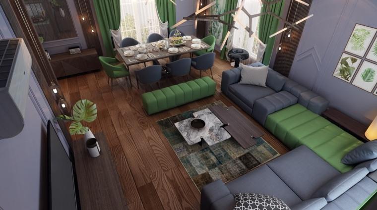 decoracion-de-salas-y-comedores-verde-gris