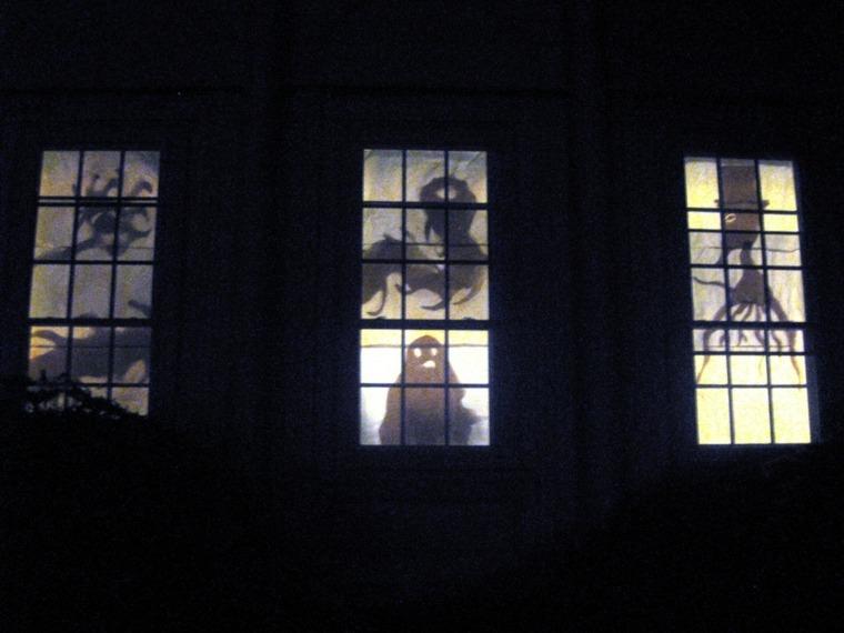 decoracion para halloween-ventana