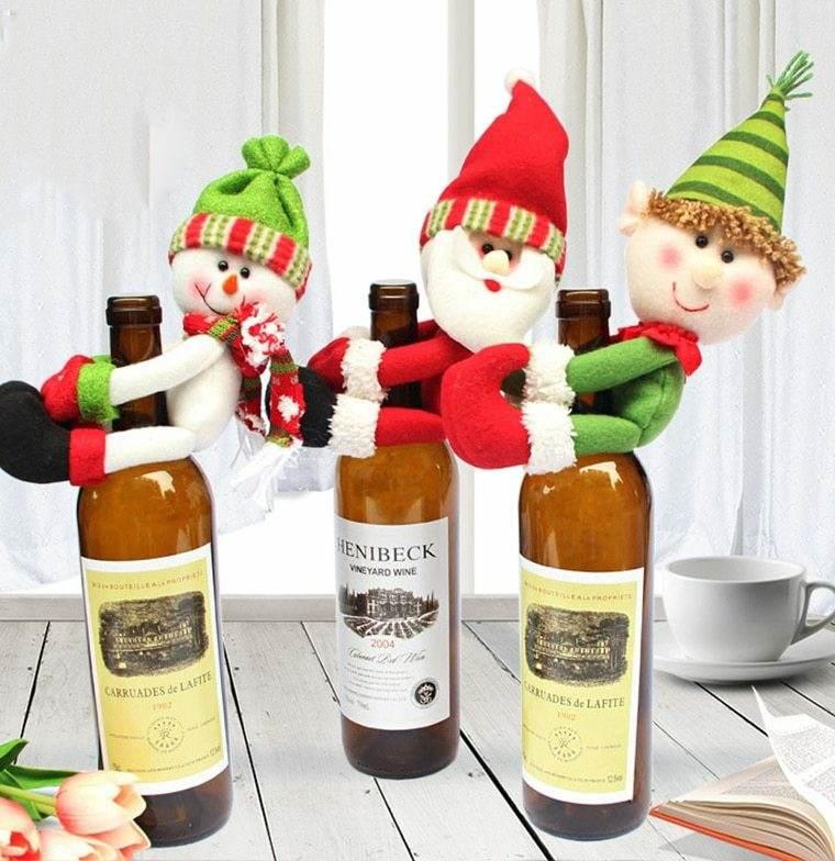 decoraciones para navidad-vino