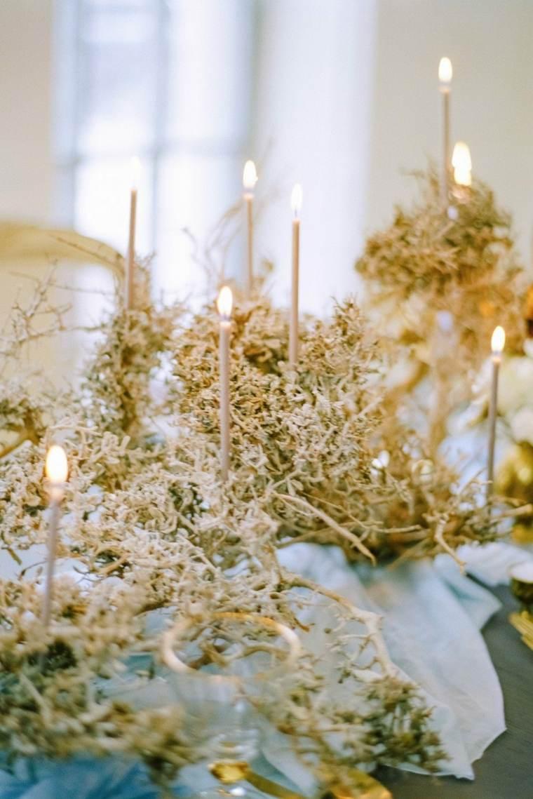 decorar-mesa-velas-pequenas-boda-invierno
