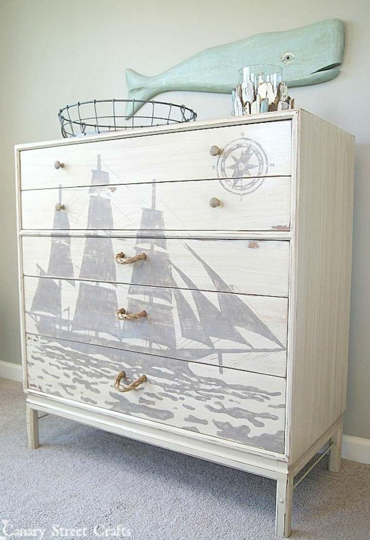 mueble cómoda pintado