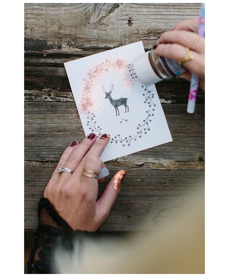 decorar-tarjetas-ideas-brillo-navidad