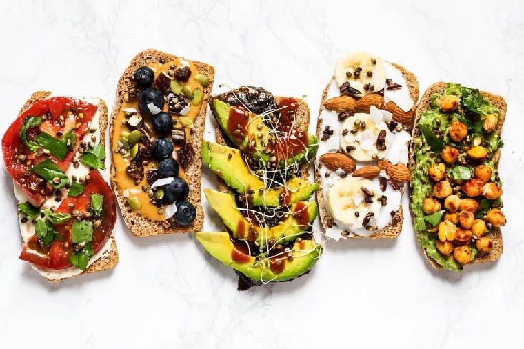 desayunos veganos-receta-tostadas-ideas