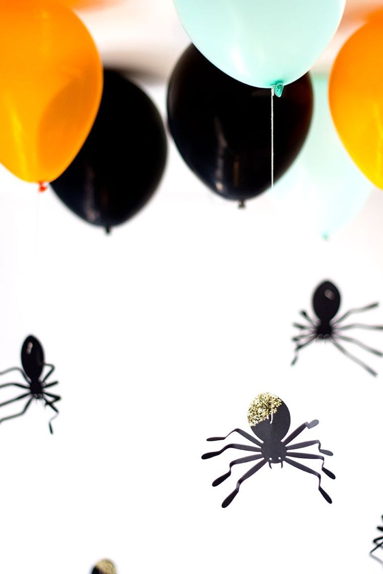 dia de halloween aranas decorativas