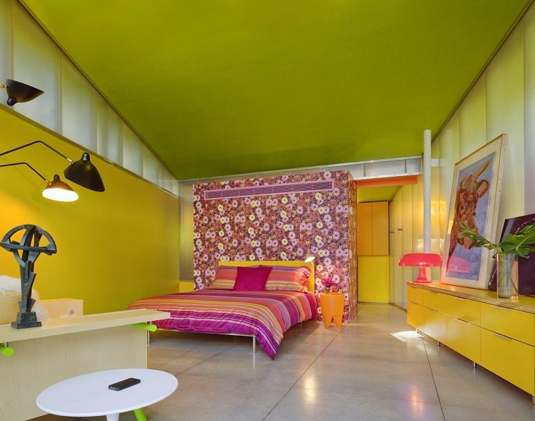 diseno-de-cuartos-pintados-colores-brillantes