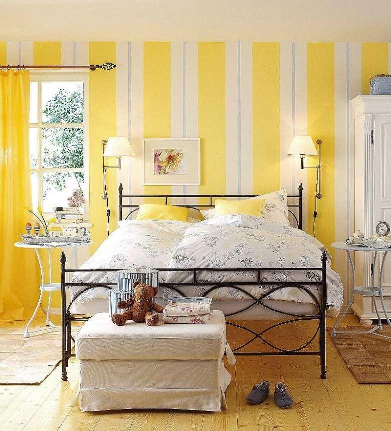 diseño de cuartos-pintados-colores-claros-blanco-amarillo