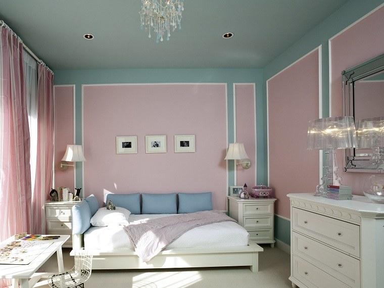 diseno de cuartos-pintados-rosa-azul