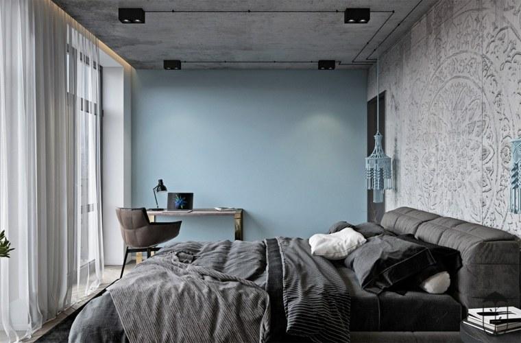 dormitorio-en-azul-y-blanco