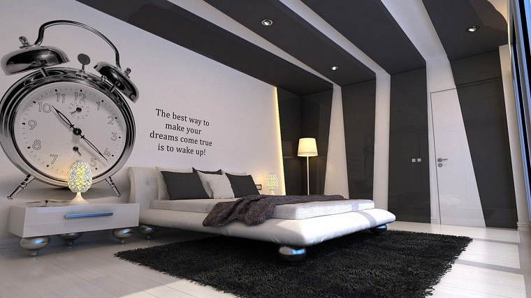 dormitorio-moderno-blanco-negro