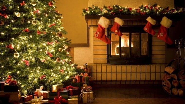el arbol de navidad-chimenea