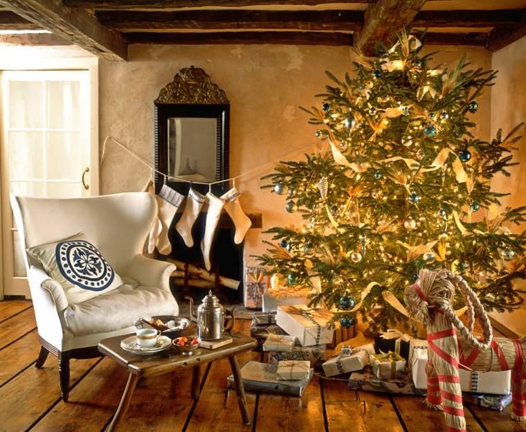 el arbol de navidad-decoracion-amarilla