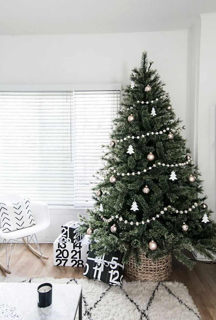 el arbol de navidad-decoracion-blanca