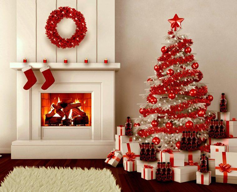 el arbol de navidad-rojo-blanco