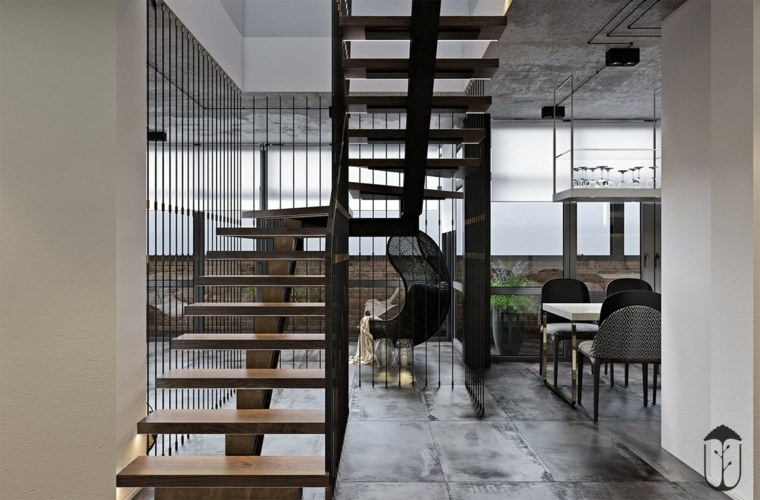 escalera-de-madera-moderna