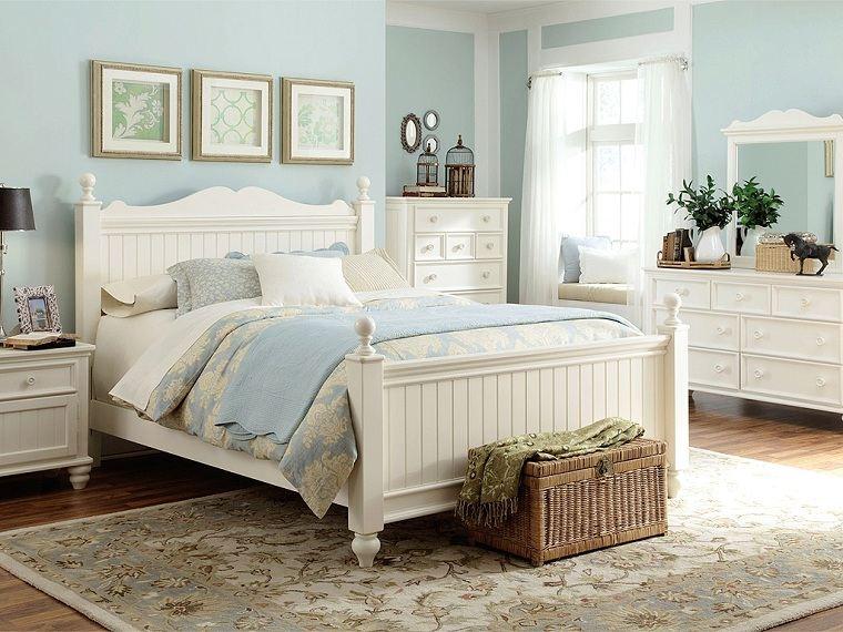 estilo-de-diseno-de-interiores-cotagge-cama-blanca