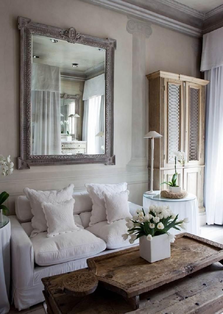 estilo-de-diseno-de-interiores-cotagge-sofa-blanca