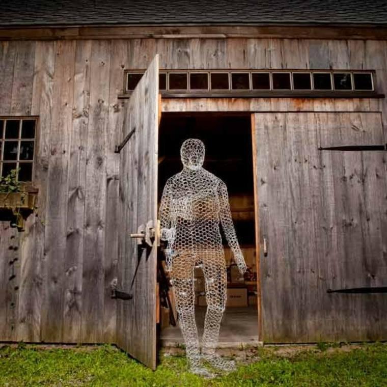 fantasmas para Halloween de-alambre