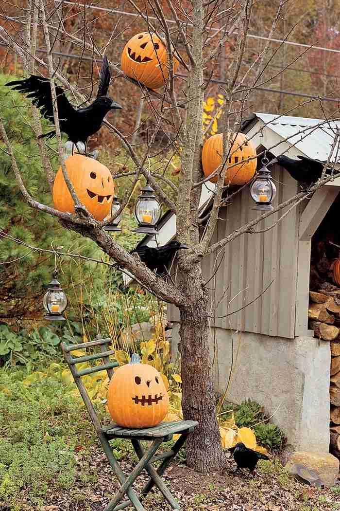 fiesta de halloween cuervos patio