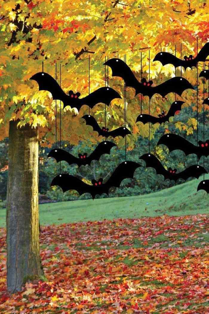 fiesta de halloween murcielagos negros