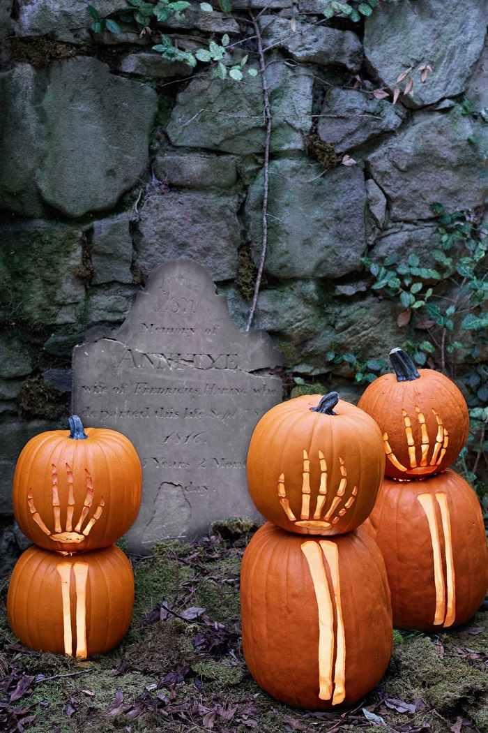 fiesta de halloween rocas paredes