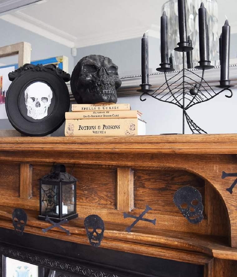 halloween 2018-guirnalda-esqueleto-ideas-originales-decorar-casa