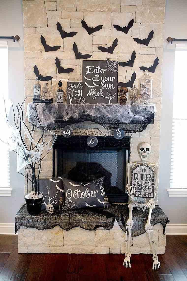 halloween 2018-ideas-decorar-chimenea