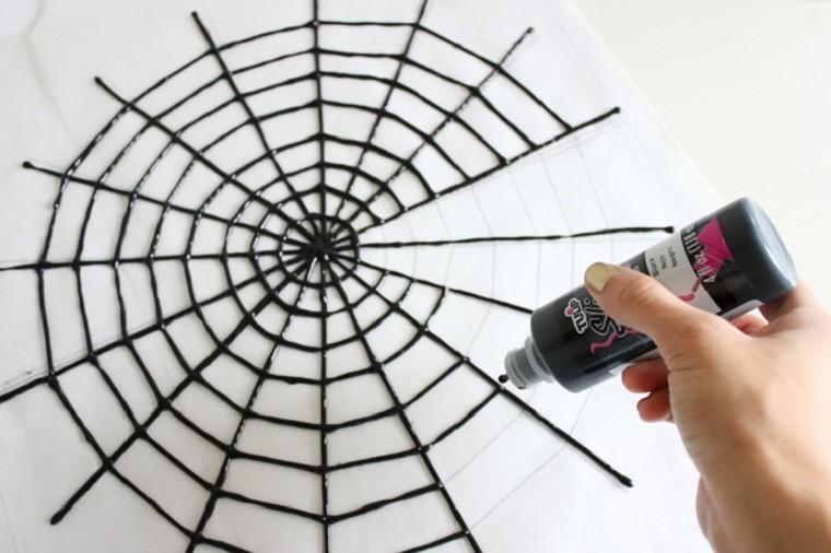 halloween-2018-ideas-mesa-decorada-pintura-negra
