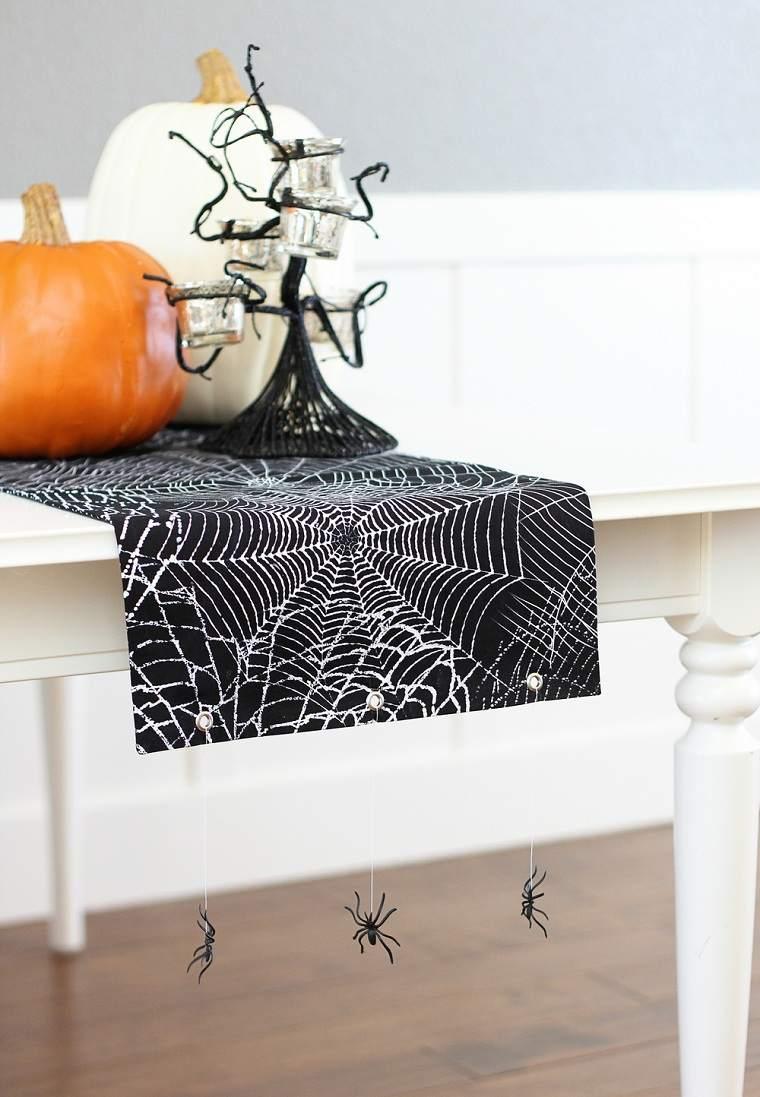 halloween-2018-mantel-aranas-negro-ideas
