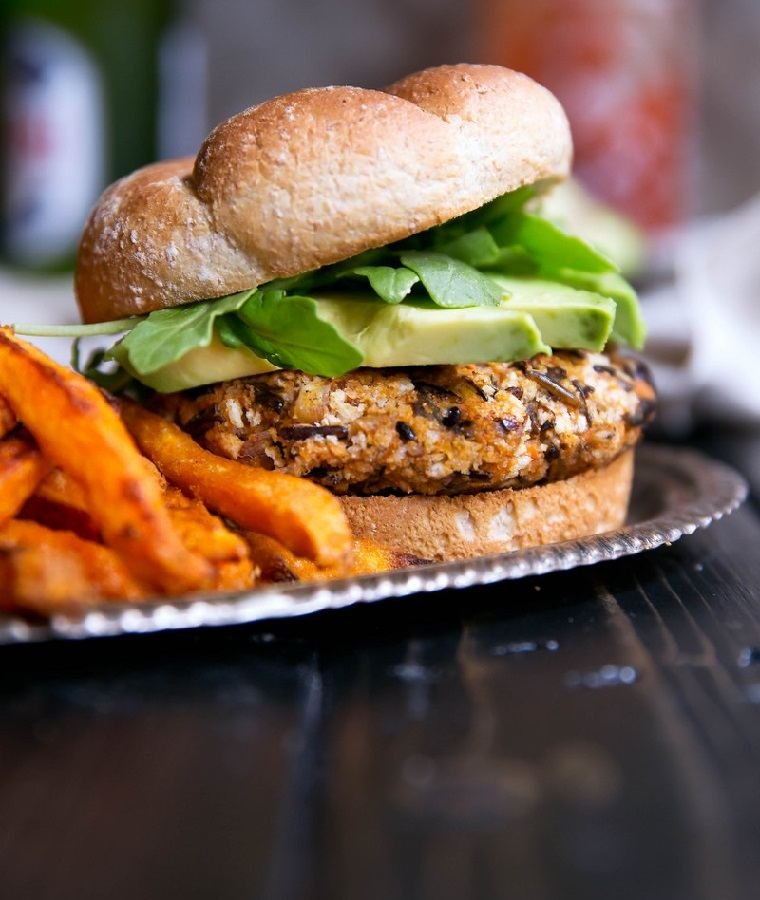 hamburguesas veganas-arroz-salvaje-batata-receta