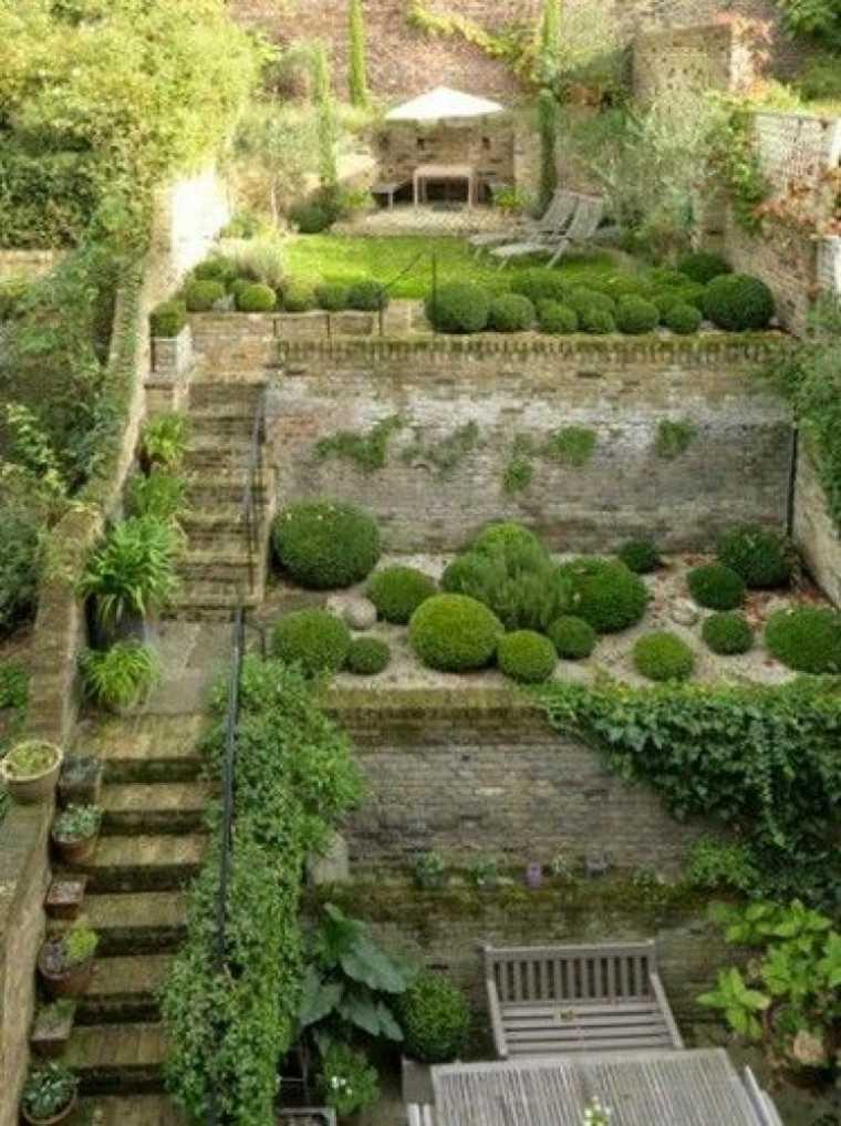 ideas para jardines con-pendiente