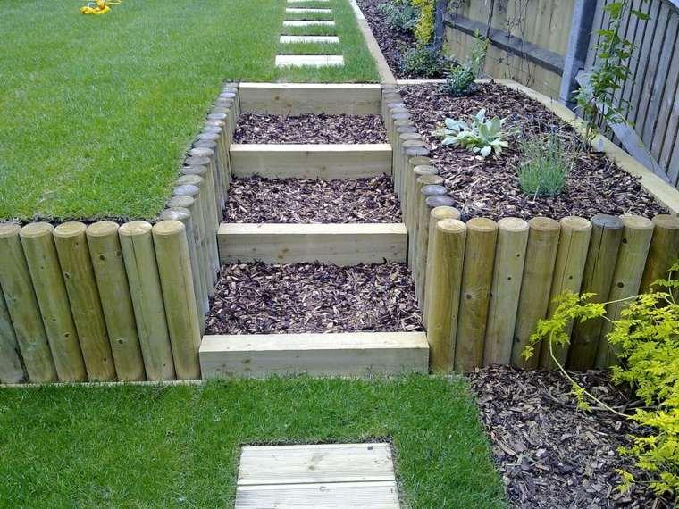 ideas para jardines escalones