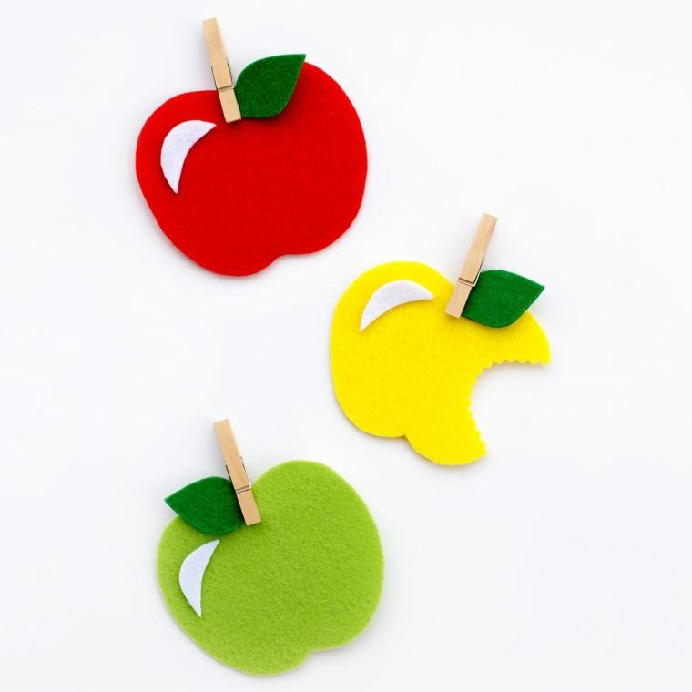 manualidades fáciles para niños manzanas
