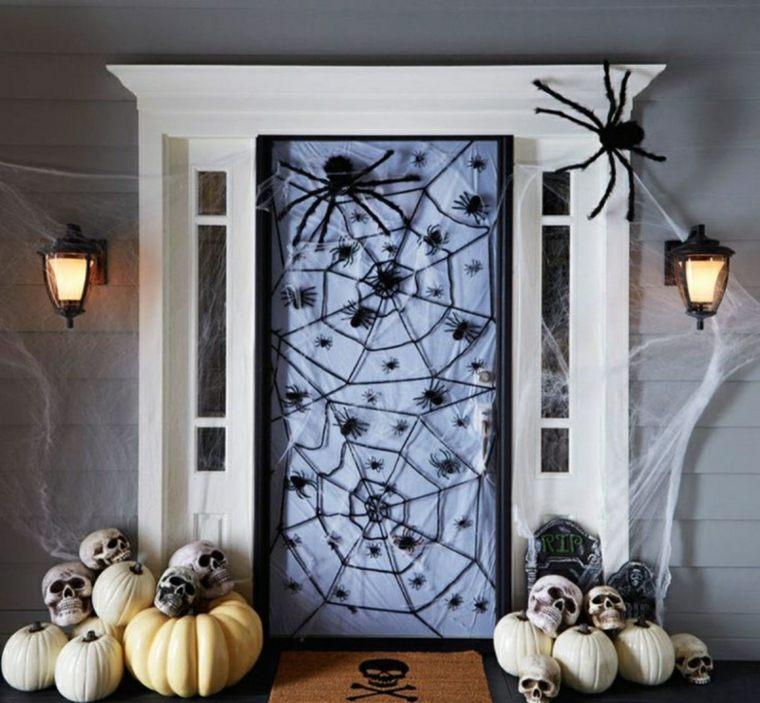 manualidades halloween-decorar-puerta