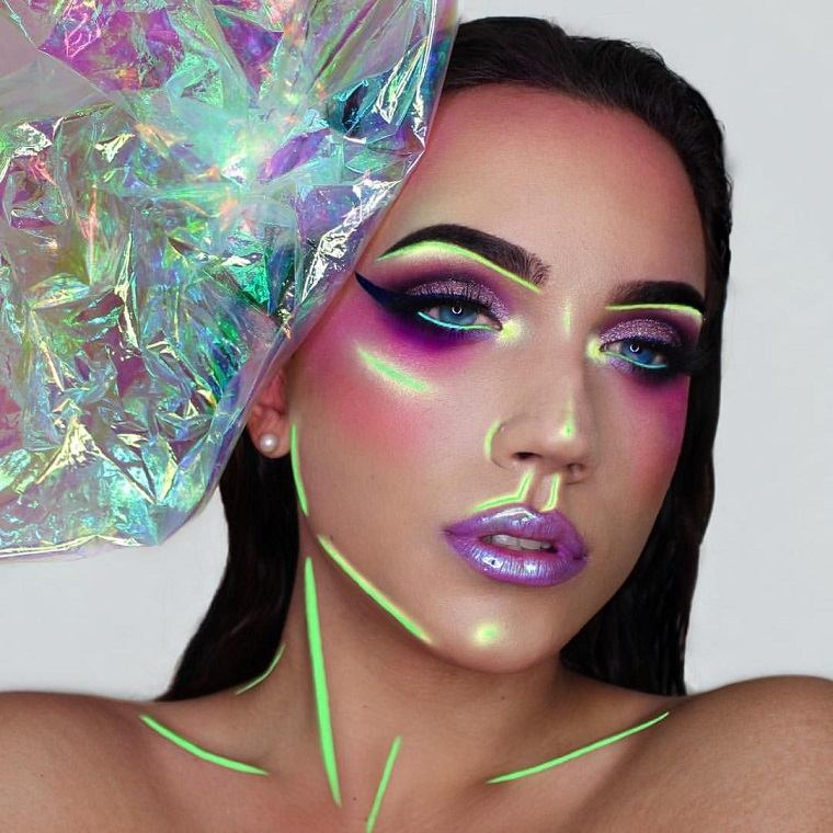 maquillaje-bello-colorido-halloween