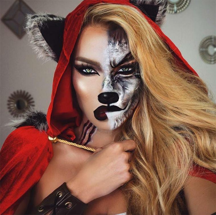 maquillaje-de-Halloween-caperucita