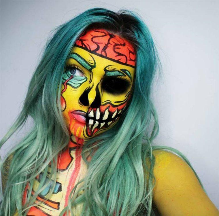 maquillaje-de-Halloween-en-colores