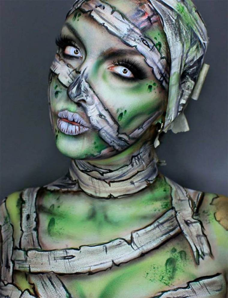 maquillaje-de-Halloween-momia