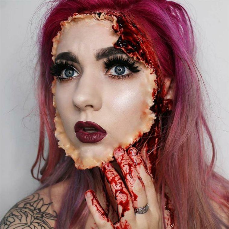 maquillaje-de-Halloween-peeling
