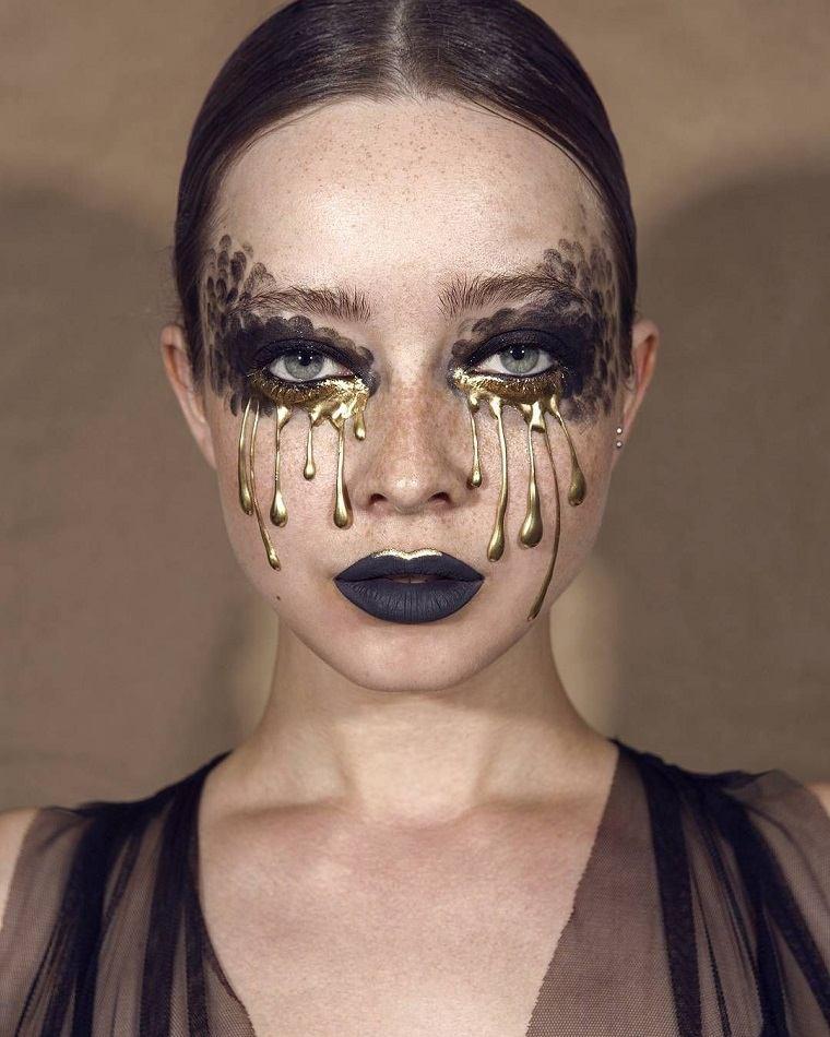 maquillaje de halloween-cisne-negro-interpretacion
