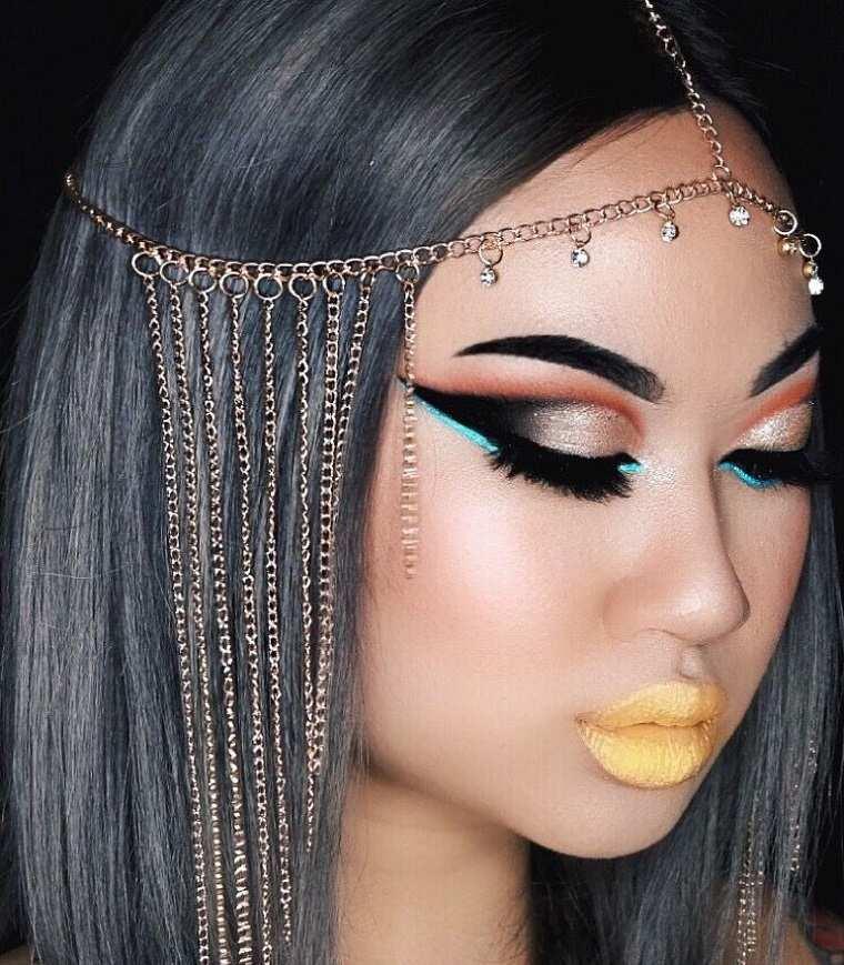 maquillaje-halloween-cleopatra