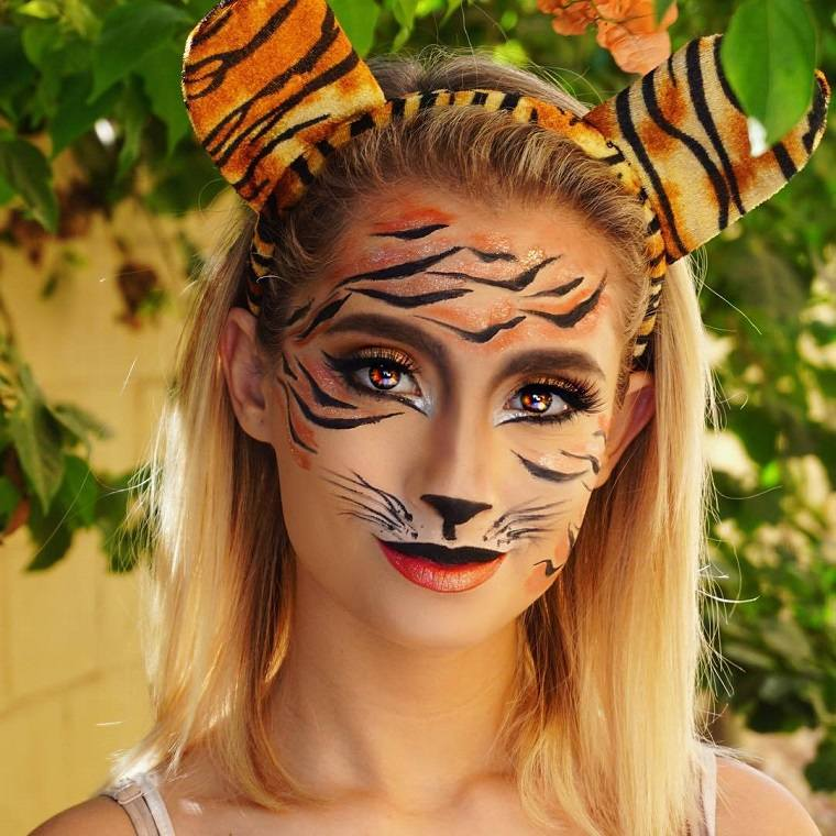 maquillaje-halloween-tigre