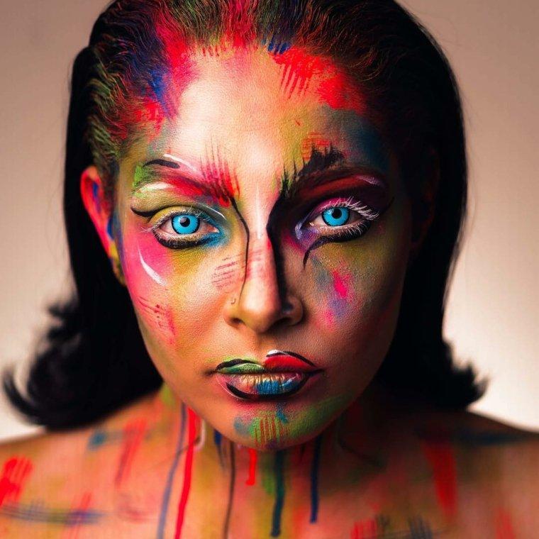maquillaje-inspirado-cuadros-colores