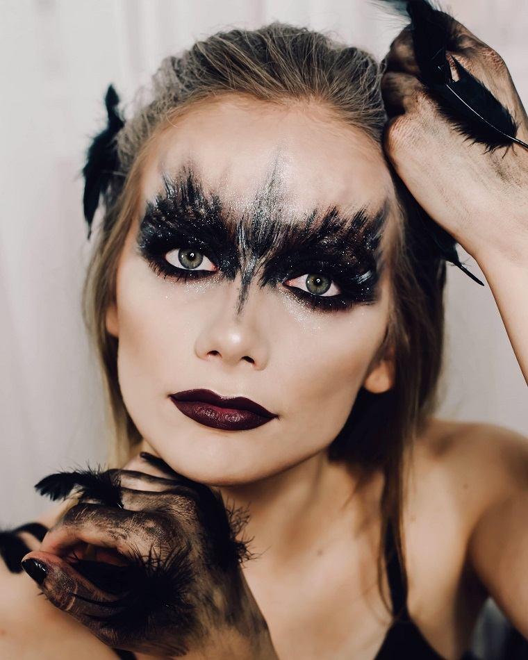 maquillaje de halloween opciones-cisne-negro