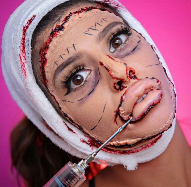 maquillaje-para-Halloween-cirujía-plástica