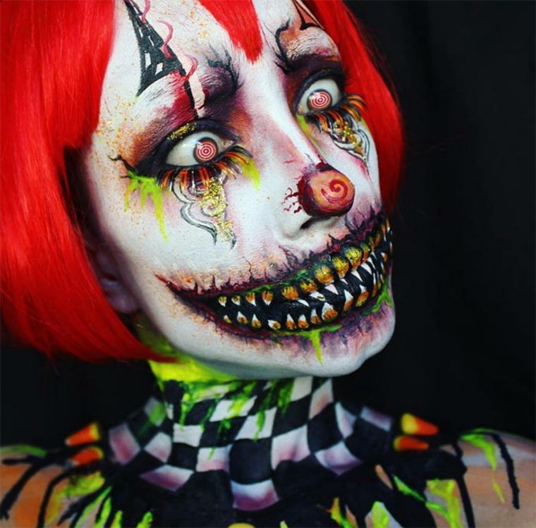 maquillaje para Halloween payaso