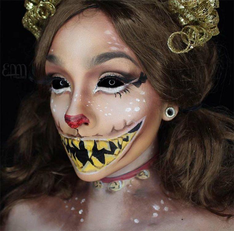 maquillaje para Halloween reno